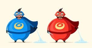 Iceman. Incredible superhero. Cartoon vector illustration. Royalty Free Stock Photo