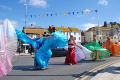 Iceni Tribal Dancers, Hastings Stock Photos