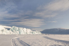 Icerberg on the Svalbard Islands. Norway's Arctic Royalty Free Stock Photos
