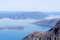 Icerbergs no sistema do fjord Fotografia de Stock