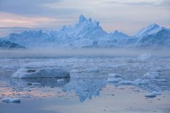 Ices and icebergs royalty free stock photos