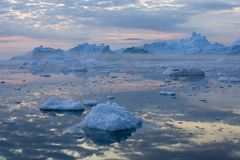 Ices and icebergs royalty free stock photography