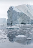 Ices and icebergs of polar regions of Earth. Royalty Free Stock Images