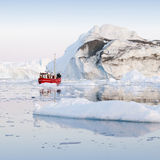 Ices and icebergs of polar regions of Earth. Royalty Free Stock Photo