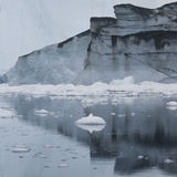 Ices and icebergs of polar regions of Earth. Royalty Free Stock Photos