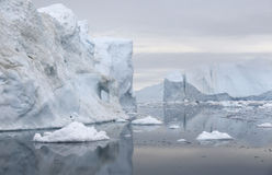 Ices and icebergs of polar regions of Earth. Royalty Free Stock Photography