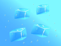 Ices in water Stock Images
