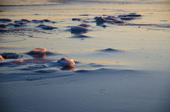 Icescape by the coast Royalty Free Stock Image