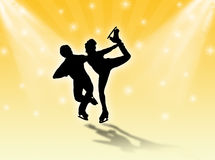 Iceskaters in the stars Royalty Free Stock Photo