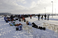 Iceskating Στοκ Φωτογραφίες