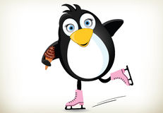 Iceskating Penguin Royalty Free Stock Photography