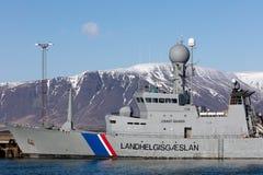ICGV-Thor - flaggskepp av den isländska kustbevakningen Royaltyfri Fotografi