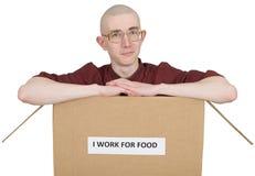 Ich arbeite für Nahrung stockbilder