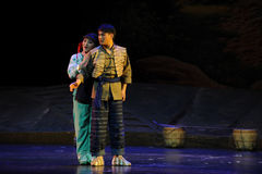 Ich baue auf Sie Jiangxi-Oper eine Laufgewichtswaage Stockbild