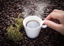Ich benötige Hanfkaffee Lizenzfreie Stockbilder