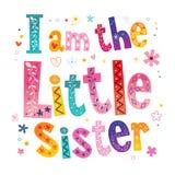 Ich bin die kleine Schwester vektor abbildung