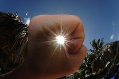 Ich fing die Sonne ab Lizenzfreie Stockbilder