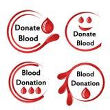 Ich gebe mein Blut mit etwas Blut Lizenzfreie Stockfotografie