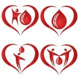 Ich gebe mein Blut mit etwas Blut Stockfotos