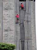 Ich gewinne - das Felsensteigen Stockbilder