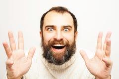 Ich habe eine Weise gefunden! Mannporträt Stockbilder