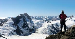 Ich habe schließlich den Gipfel erreicht! Lizenzfreies Stockbild
