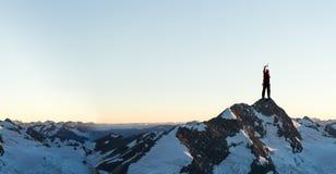 Ich habe schließlich den Gipfel erreicht! Lizenzfreie Stockfotografie