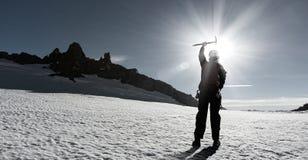 Ich habe schließlich den Gipfel erreicht! Lizenzfreies Stockfoto
