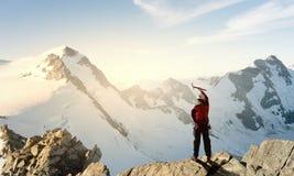 Ich habe schließlich den Gipfel erreicht! Lizenzfreie Stockbilder