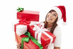 Ich habe viele Geschenke! Lizenzfreies Stockfoto
