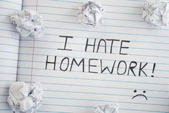 Ich hasse Hausarbeit stockbild
