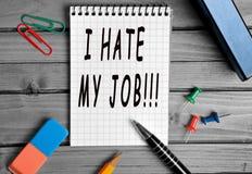 Ich hasse meinen Job! stockfoto
