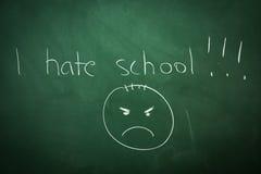 Ich hasse Schule stockfotografie