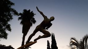 Ich kann fliegen Palmen und Himmel lizenzfreie stockbilder
