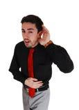 Ich kann Sie nicht hören! Lizenzfreie Stockfotos