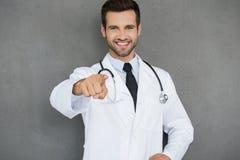 Ich kümmere mich um Ihrer Gesundheit! Stockfotografie