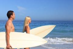 ich kochanków surfboards Zdjęcia Stock