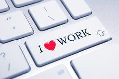 Ich liebe Arbeit! Lizenzfreies Stockbild