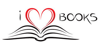 Ich liebe Bücher Stockfoto