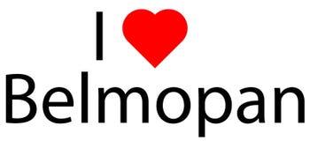 Ich liebe Belmopan lizenzfreies stockbild