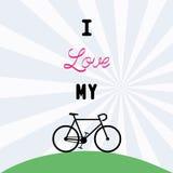 Ich liebe bicycle12 Lizenzfreies Stockbild