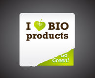 Ich liebe Bioproduktabbildung. Lizenzfreies Stockbild