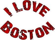 Ich liebe Boston-Textzeichenillustration Lizenzfreies Stockfoto