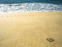 Ich liebe den Strand lizenzfreie stockfotografie