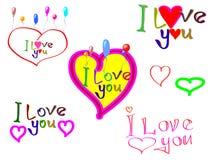 ?Ich liebe dich? Stockfotografie