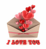 Ich liebe dich. Stockbild