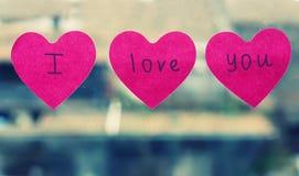 Ich liebe dich Stockfotos