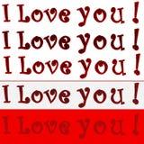 Ich liebe dich! Stockbilder