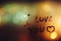 Ich liebe dich Stockfotografie