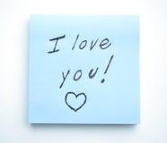 Ich liebe dich! Stockfotos